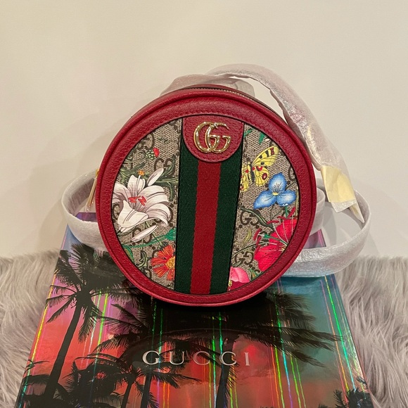 Gucci Ophidia GG Flora Mini Backpack In Red 598661